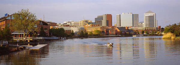 Wilmington Delaware Wall Art - Photograph - Boat In A River, Delaware River by Panoramic Images
