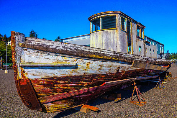 Dry Dock Photograph - Boat In Dry Dock by Garry Gay
