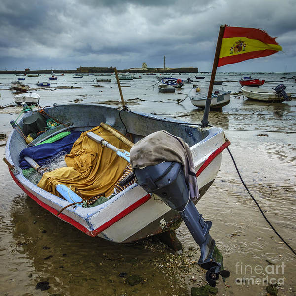Photograph - Boat In Low Tide La Caleta Cadiz Spain by Pablo Avanzini