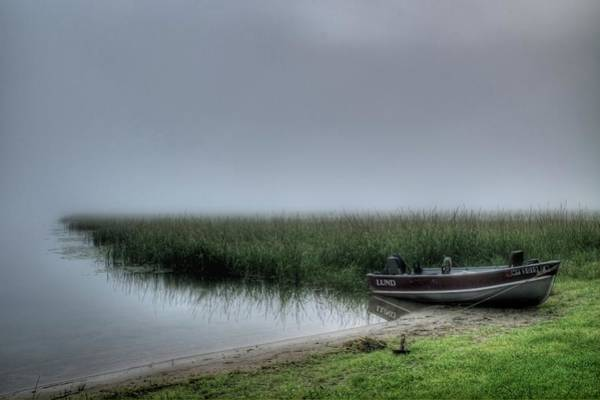 Boat In The Fog Art Print