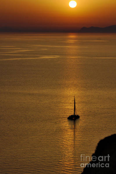 Photograph - Boat In The Sunset by Jeremy Hayden