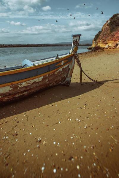 Wall Art - Photograph - Boat On A Beach by Carlos Caetano