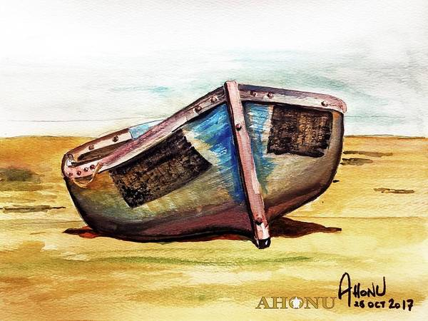 Painting - Boat On Beach by Ahonu
