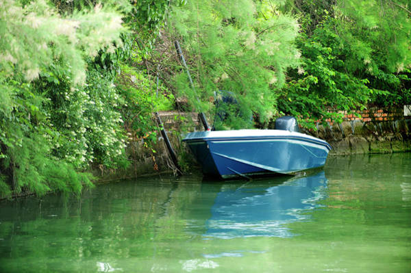 Photograph - Boat On Canal,venice by Jean Gill