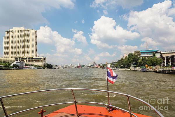Photograph - Boat On Chao Praya In Bangkok by Didier Marti