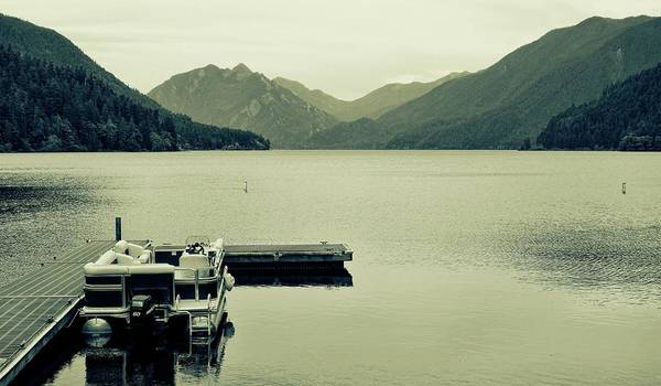 Photograph - Boat On Lake Crescent Washington by Dan Sproul