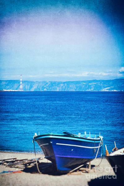 Photograph - Boat On Messina Strait, Italy by Silvia Ganora