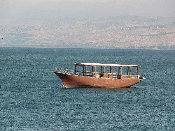 Boat On Sea Of Galilee Art Print