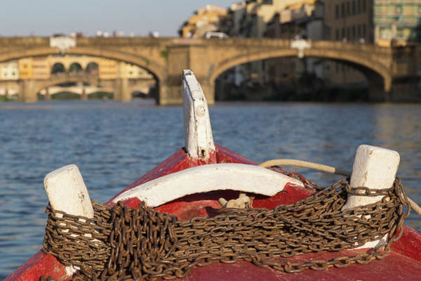 Photograph - Boat On The Arno River,  by Patricia Schaefer