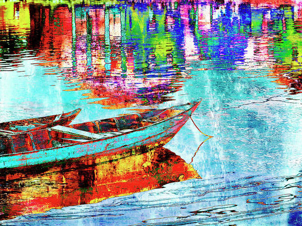 Wall Art - Photograph - Boat On The River by Skip Nall