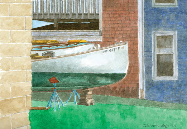 Painting - Boat Out Of Water - Portland Maine by Dominic White