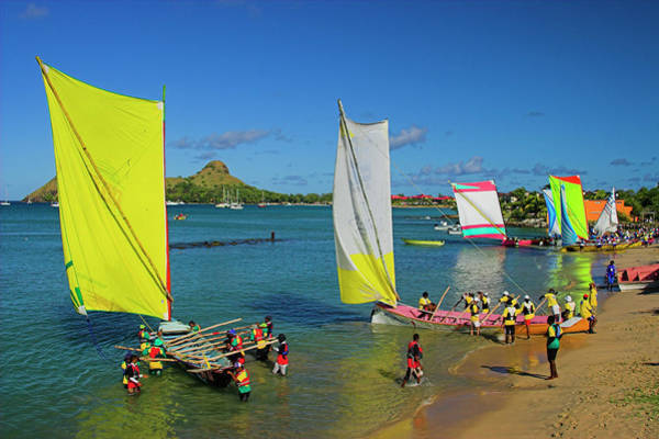 Wall Art - Photograph - Boat Race- St Lucia by Chester Williams