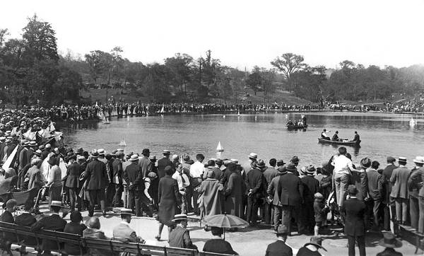 Wall Art - Photograph - Boat Races In Central Park by Underwood Archives