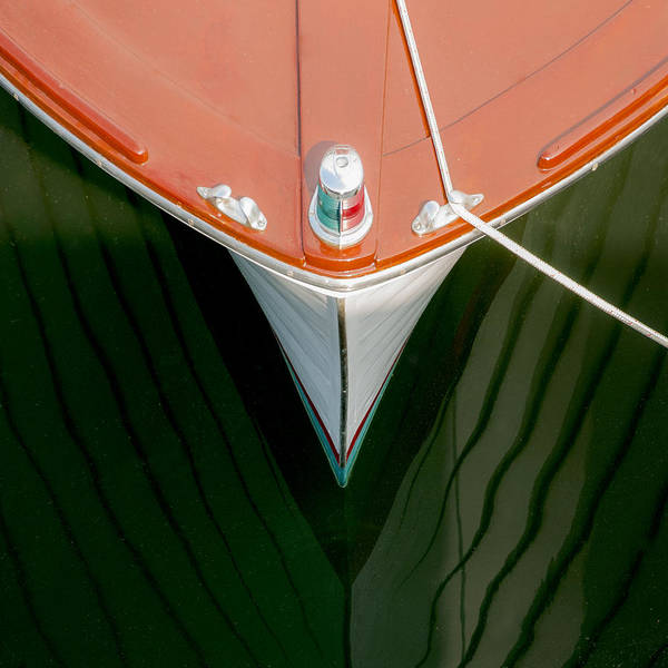 Wall Art - Photograph - Vintage Boat Mirror Water Reflection by Charles Harden