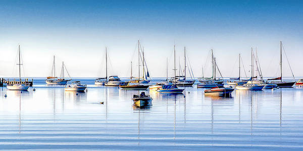 Painting - Boat Reflections Panorama by Christopher Arndt
