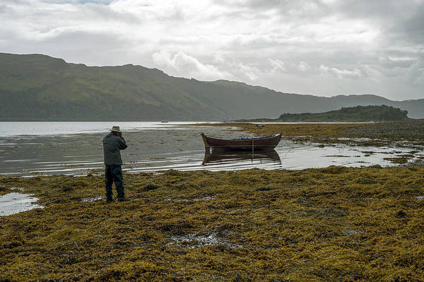 Photograph - Boat Seaweed And Photographer In Isle Of Skye, Uk by Dubi Roman