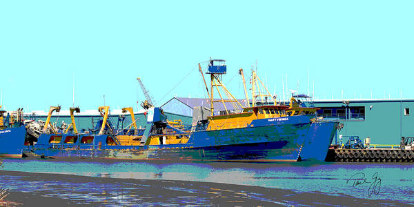 Wall Art - Photograph - Boat Series 11 Fishing Fleet 1 Empire by Paul Gaj