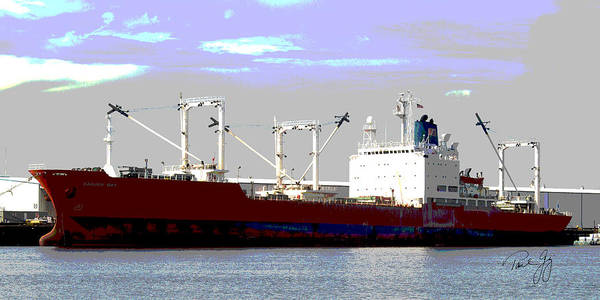 Wall Art - Photograph - Boat Series 13 Cargo Ship Pascagoula by Paul Gaj