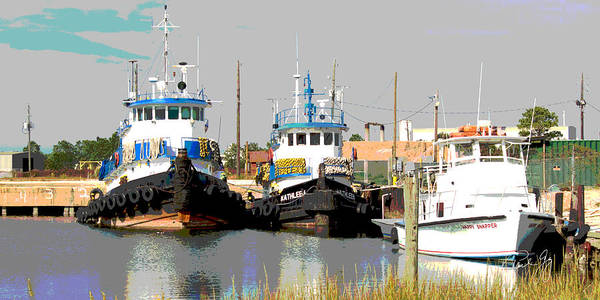 Wall Art - Photograph - Boat Series 15 Tugs 1 Bayou La Batre by Paul Gaj