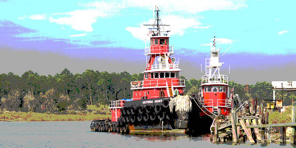 Wall Art - Photograph - Boat Series 16 Tugs 2 Bayou La Batre by Paul Gaj