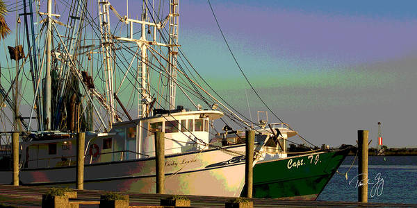 Wall Art - Photograph - Boat Series 28 Shrimp Boats Docked Apalachicola by Paul Gaj