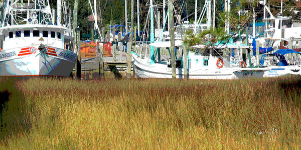 Wall Art - Photograph - Boat Series 29 Fishing Boats Docked Ocean Springs by Paul Gaj