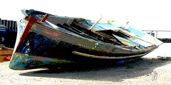 Wall Art - Photograph - Boat Series 3 Pascagoula Grounded by Paul Gaj
