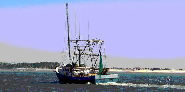 Wall Art - Photograph - Boat Series 31 Shrimp Boat Heading Out Of Biloxi by Paul Gaj