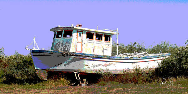 Wall Art - Photograph - Boat Series 4 West Pointe A La Hache 1 Grounded by Paul Gaj