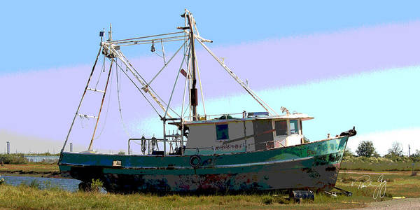 Wall Art - Photograph - Boat Series 5 West Pointe A La Hache 2 Grounded by Paul Gaj