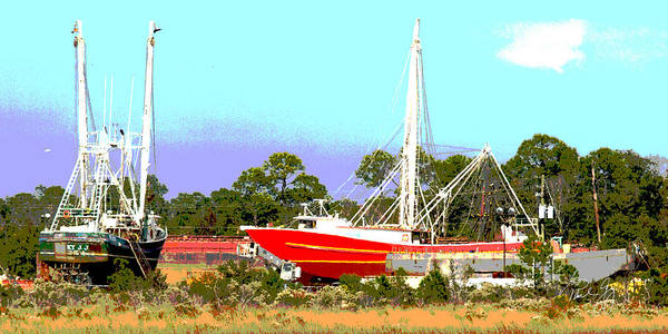 Wall Art - Photograph - Boat Series 8 Shipyard Bayou La Batre by Paul Gaj