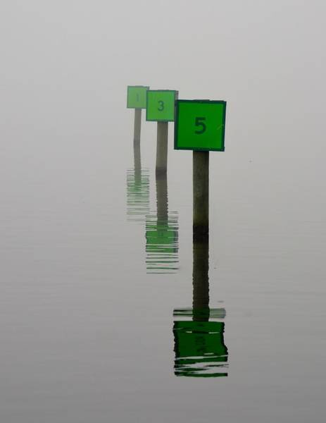 Wall Art - Photograph - Boat Slips In The Fog by Richard Bryce and Family