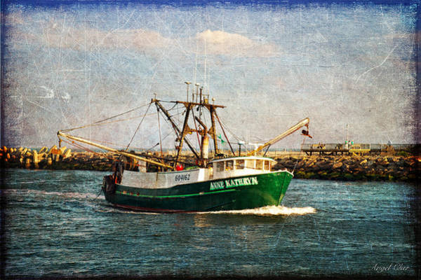 Photograph - Boat Texture Manasquan Inlet by Angel Cher
