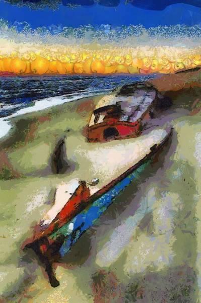 Digital Art - Boat Vegged Out by Catherine Lott