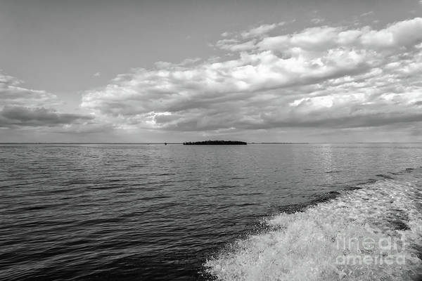 Photograph - Boat Wake On Florida Bay by Louise Lindsay