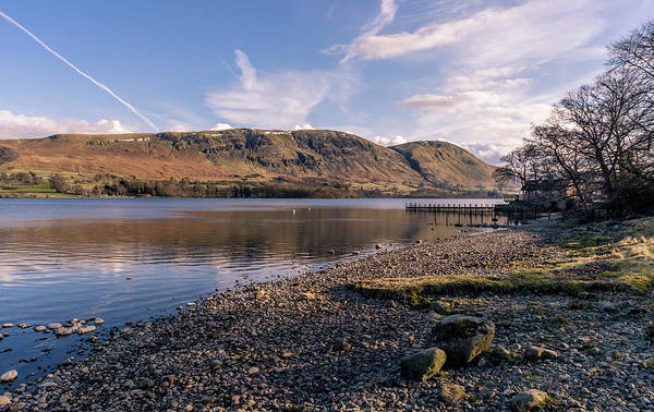 Pooley Bridge Wall Art - Photograph - Boathouse And Mountains by Naylors Photography