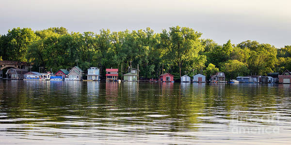 Photograph - Boathouse Community Latsch Island Winona by Kari Yearous