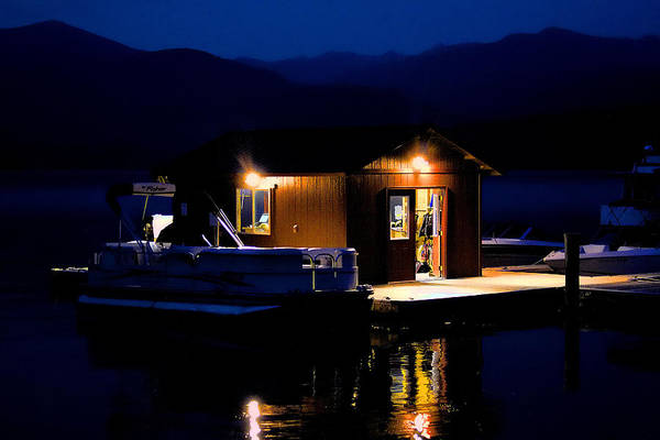 Photograph - Boathouse In The Evening by David Patterson