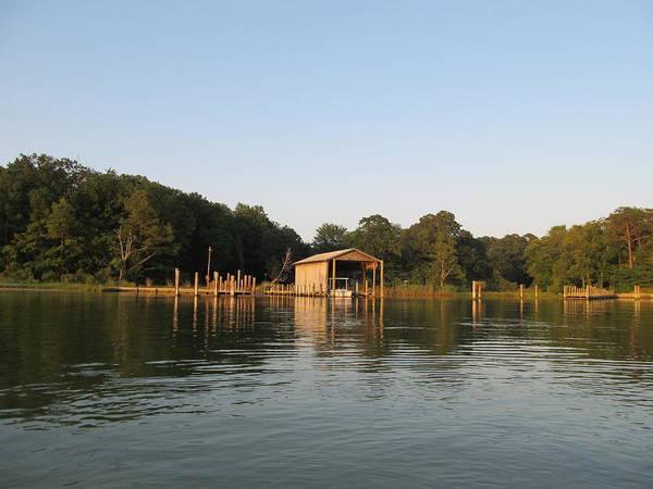 Photograph - Boathouse Landing by Digital Art Cafe
