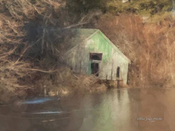 Boathouse On Solstice Art Print
