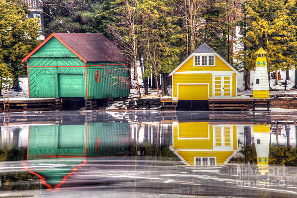 Photograph - Boathouse Reflections by Rod Best
