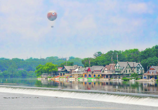 Photograph - Boathouse Row And The Zoo Balloon In Philadelphia by Bill Cannon