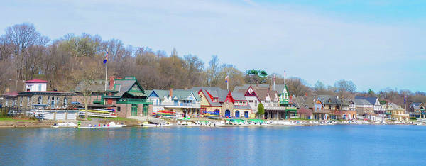 Photograph - Boathouse Row In Panorama by Bill Cannon