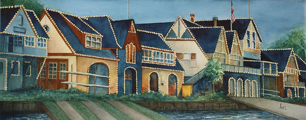 Wall Art - Painting - Boathouse Row by Lael Rutherford