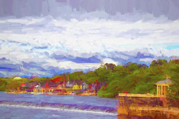 Photograph - Boathouse Row Lovely Day by Alice Gipson