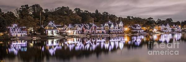 Wall Art - Photograph - Boathouse Row Night by Stacey Granger