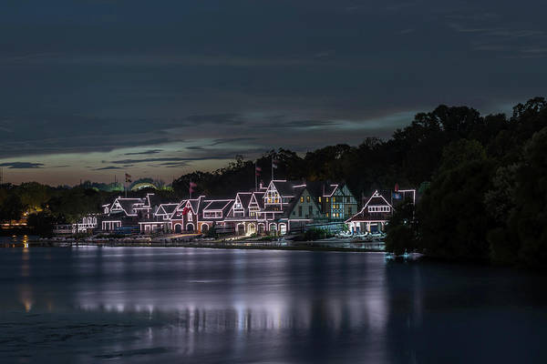 Photograph - Boathouse Row Philadelphia Pa At Night  by Terry DeLuco