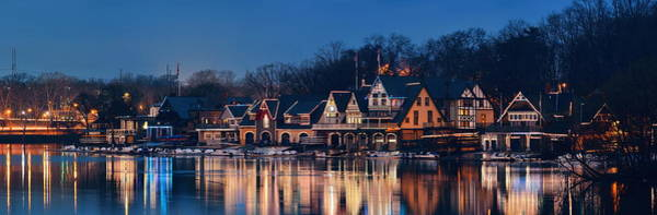 Wall Art - Photograph - Boathouse Row by Songquan Deng