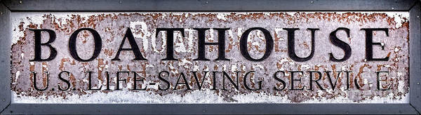 Saving Wall Art - Photograph - Boathouse Sign by Olivier Le Queinec