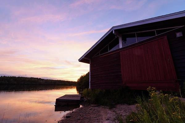 Cachalot Wall Art - Photograph - Boathouse Sunset 2016 by Dennis Wilkinson